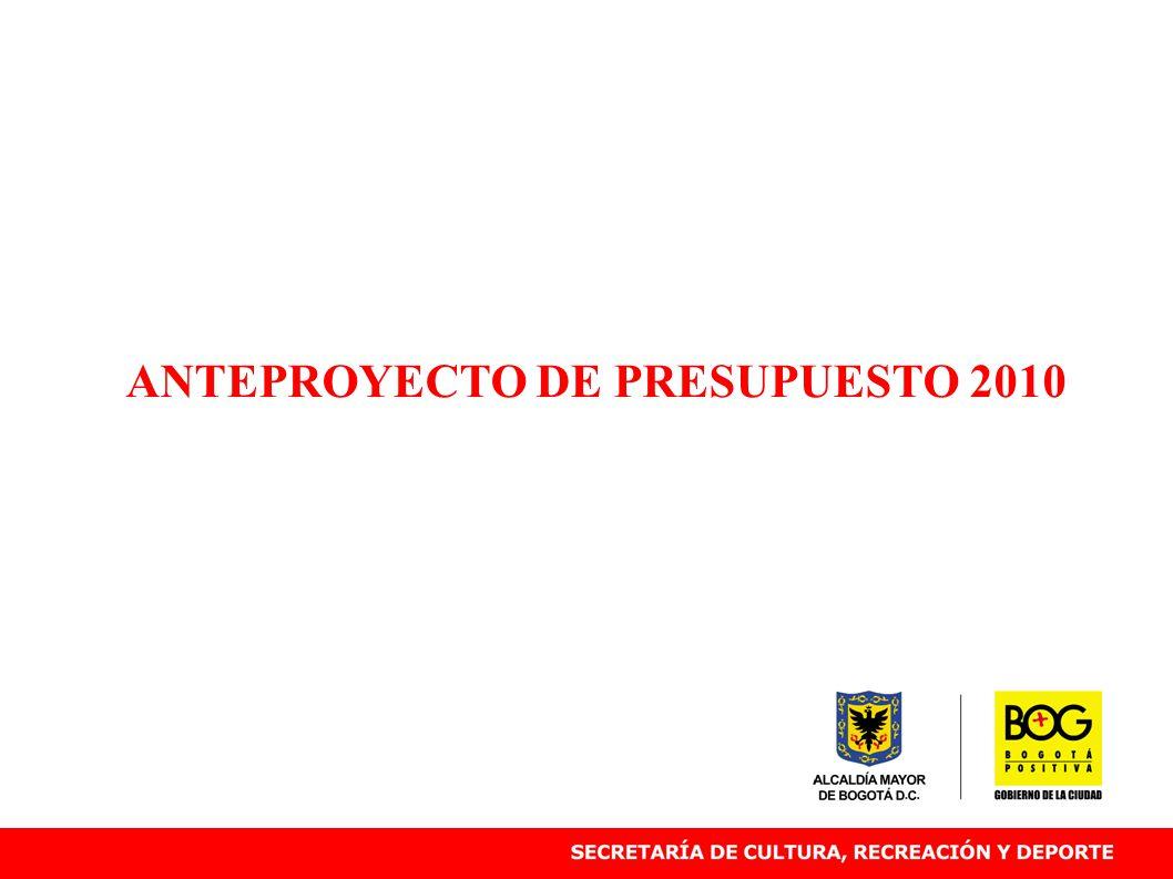 ANTEPROYECTO DE PRESUPUESTO 2010