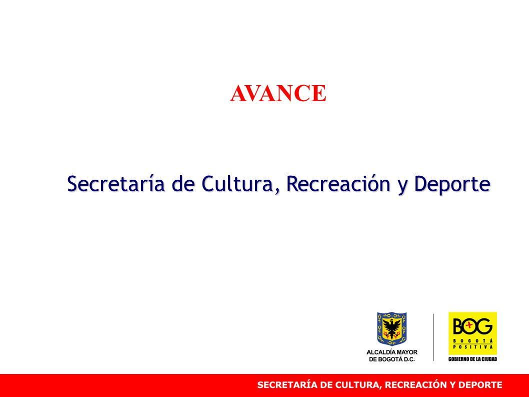 AVANCE Secretaría de Cultura, Recreación y Deporte