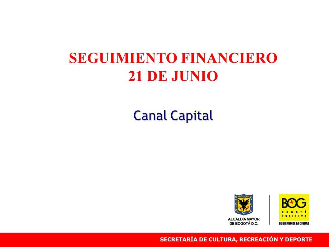 SEGUIMIENTO FINANCIERO 21 DE JUNIO Canal Capital