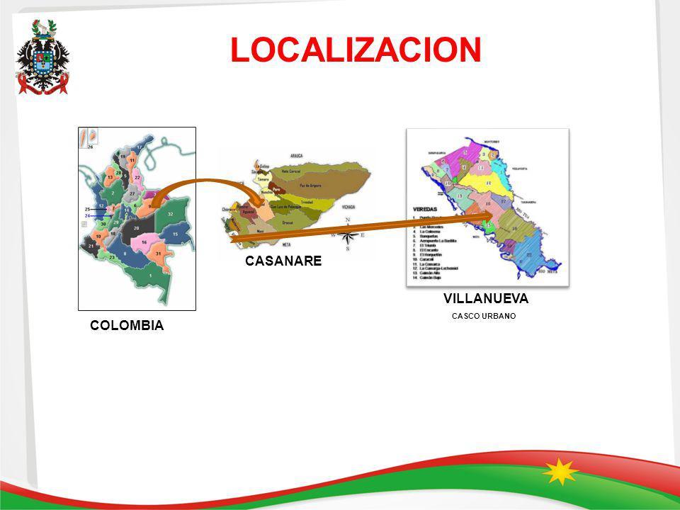 LOCALIZACION CASCO URBANO COLOMBIA CASANARE VILLANUEVA