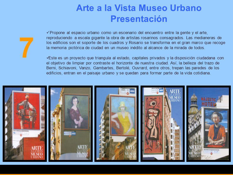 Arte a la Vista Museo Urbano Presentación Propone al espacio urbano como un escenario del encuentro entre la gente y el arte, reproduciendo a escala g