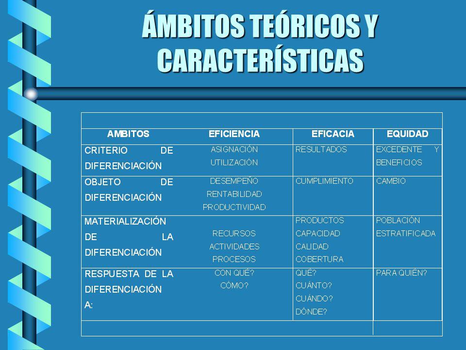 ÁMBITOS TEÓRICOS Y CARACTERÍSTICAS