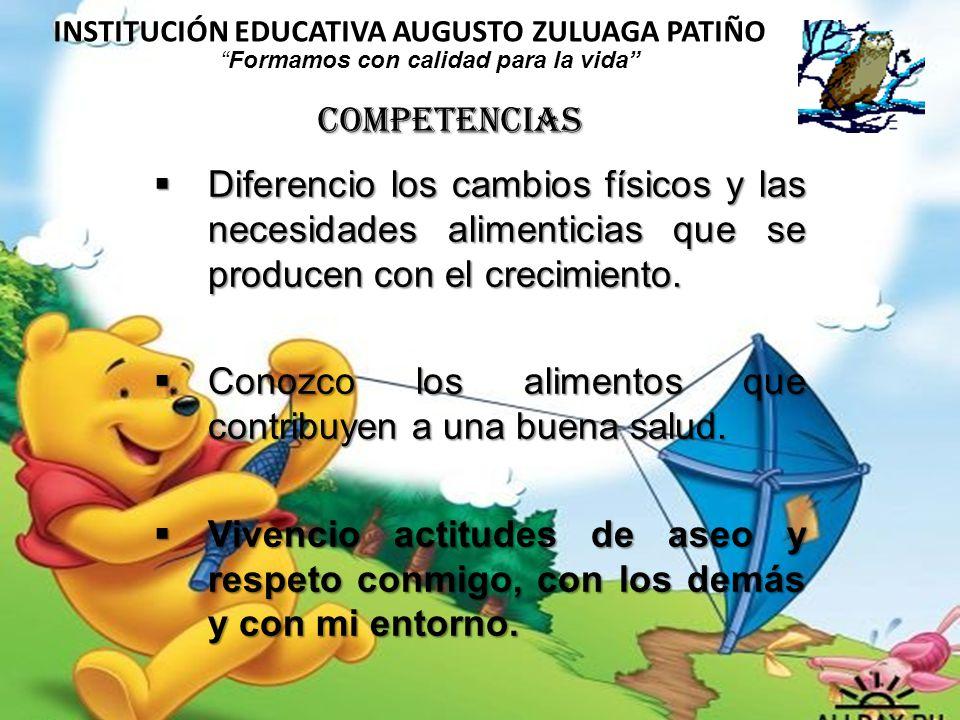 INSTITUCIÓN EDUCATIVA AUGUSTO ZULUAGA PATIÑO Formamos con calidad para la vida Los niños se apropian de los hábitos saludables para incorporarlos en todos los momentos de su vida.