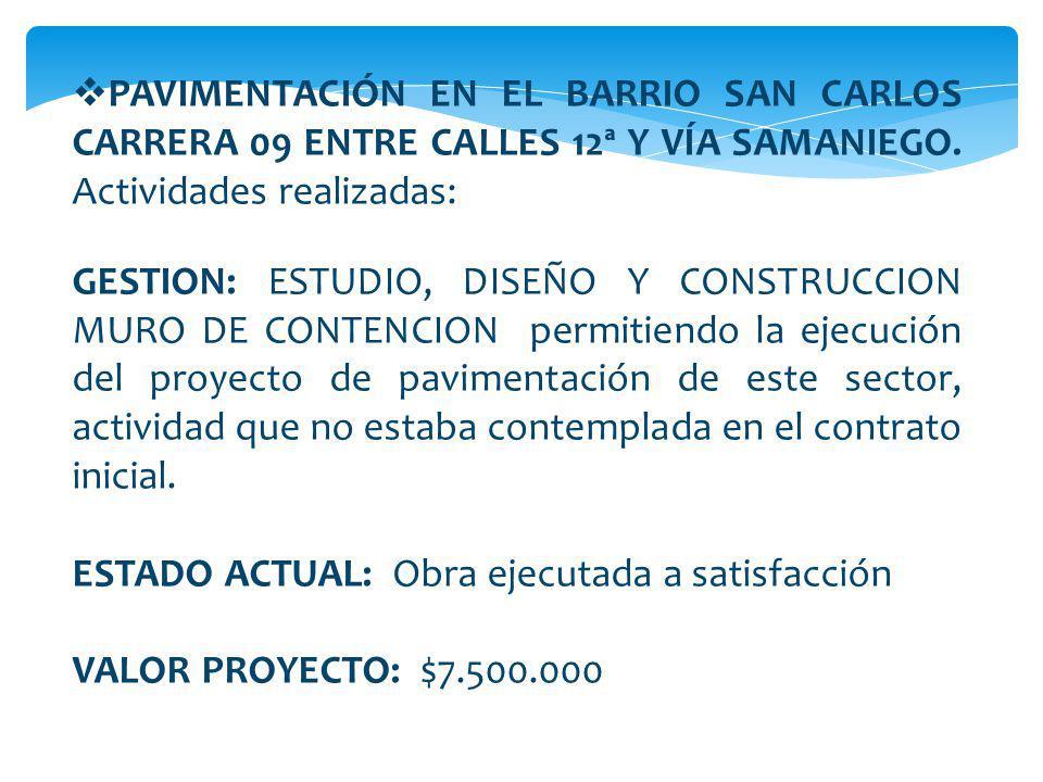 CONSTRUCCION Y ADECUACION INSTITUCION EDUCATIVA VEREDA SANTA ISABEL Y CENTRO EDUCATIVO VISTA HERMOSA.