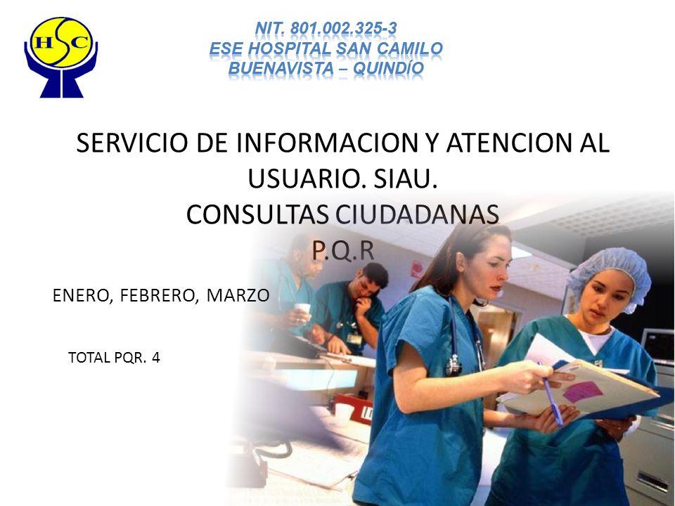 SERVICIO DE INFORMACION Y ATENCION AL USUARIO. SIAU.