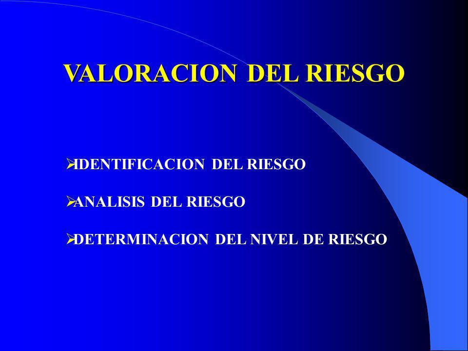 ETAPAS PARA LA ADMINISTRACION DEL RIESGO VALORACION DEL RIESGO MANEJO DEL RIESGO MONITOREO