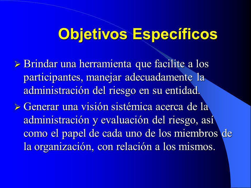 Objetivos Generales Que los participantes cuenten con los elementos conceptuales que les permitan en su organización revaluar los aspectos tanto inter