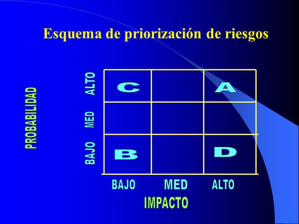Impacto Se establecen escalas de valoración para cada factor relativo de las consecuencias ante la materialización del riesgo ALTO: Presenta un alto e