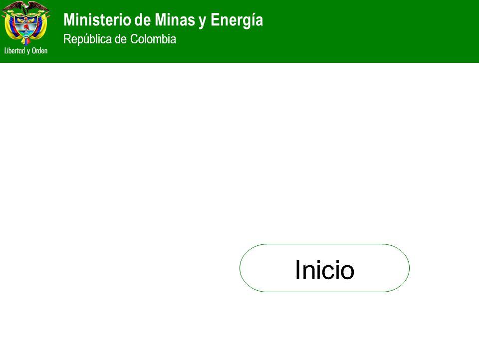 Ministerio de Minas y Energía República de Colombia Inicio