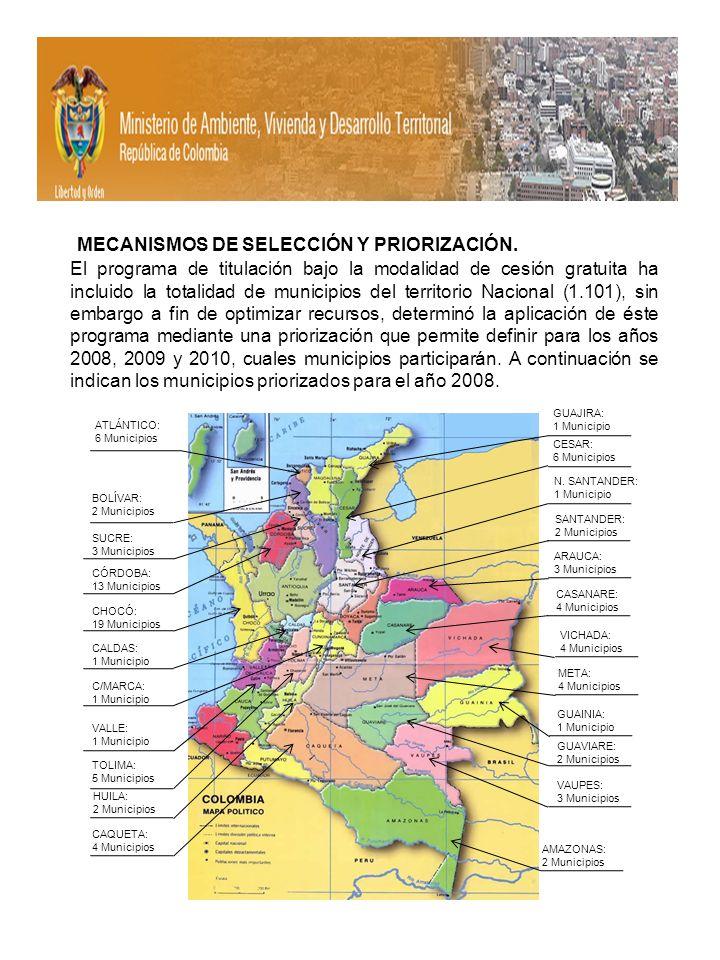 MECANISMOS DE SELECCIÓN Y PRIORIZACIÓN.