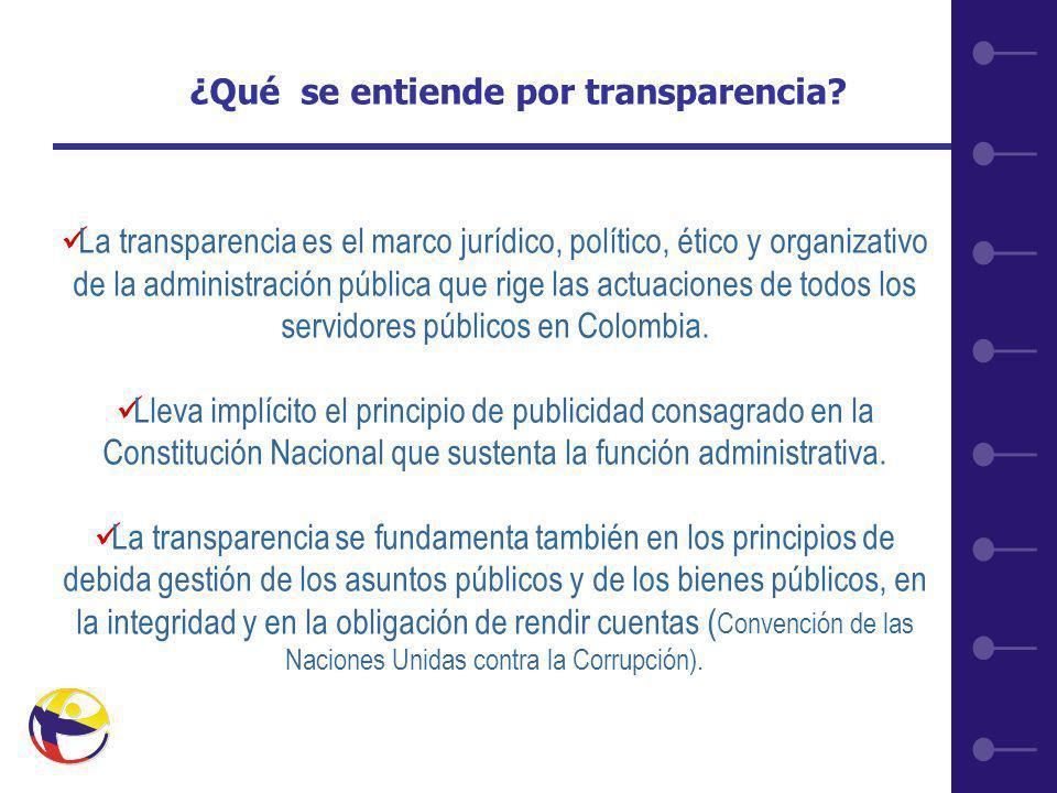 6 ¿Qué se entiende por transparencia.