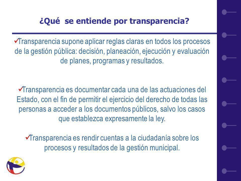 7 ¿Qué se entiende por transparencia.