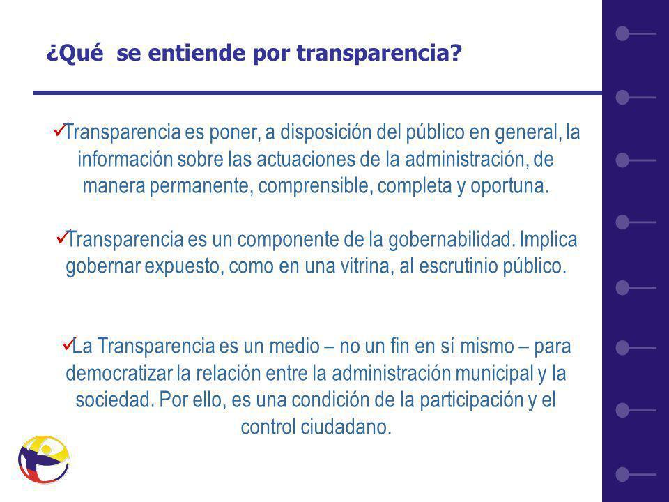8 ¿Qué se entiende por transparencia.