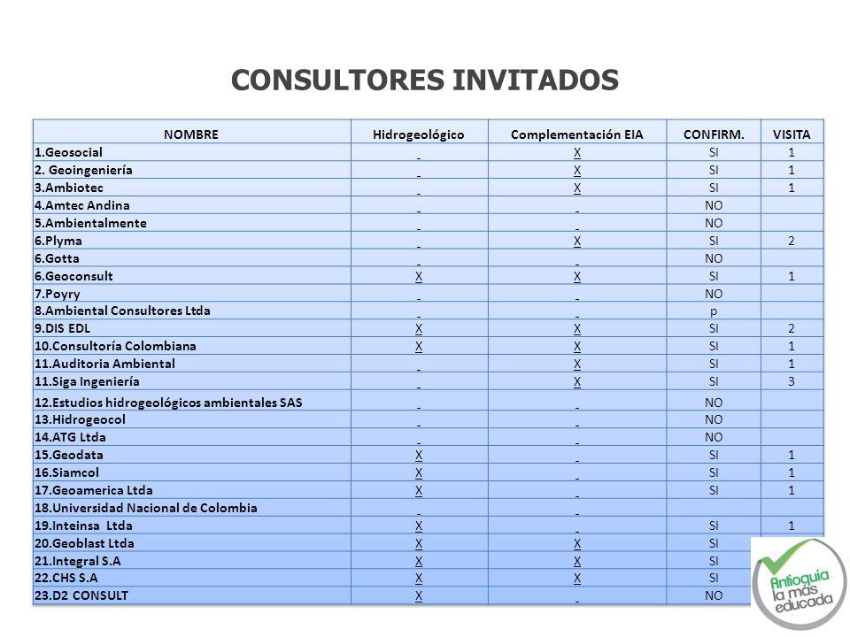CONSULTORES INVITADOS