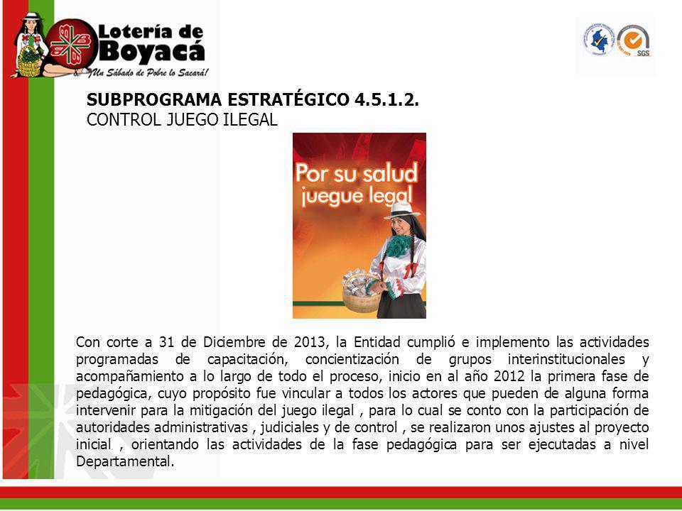 SUBPROGRAMA ESTRATÉGICO 4.5.1.3.
