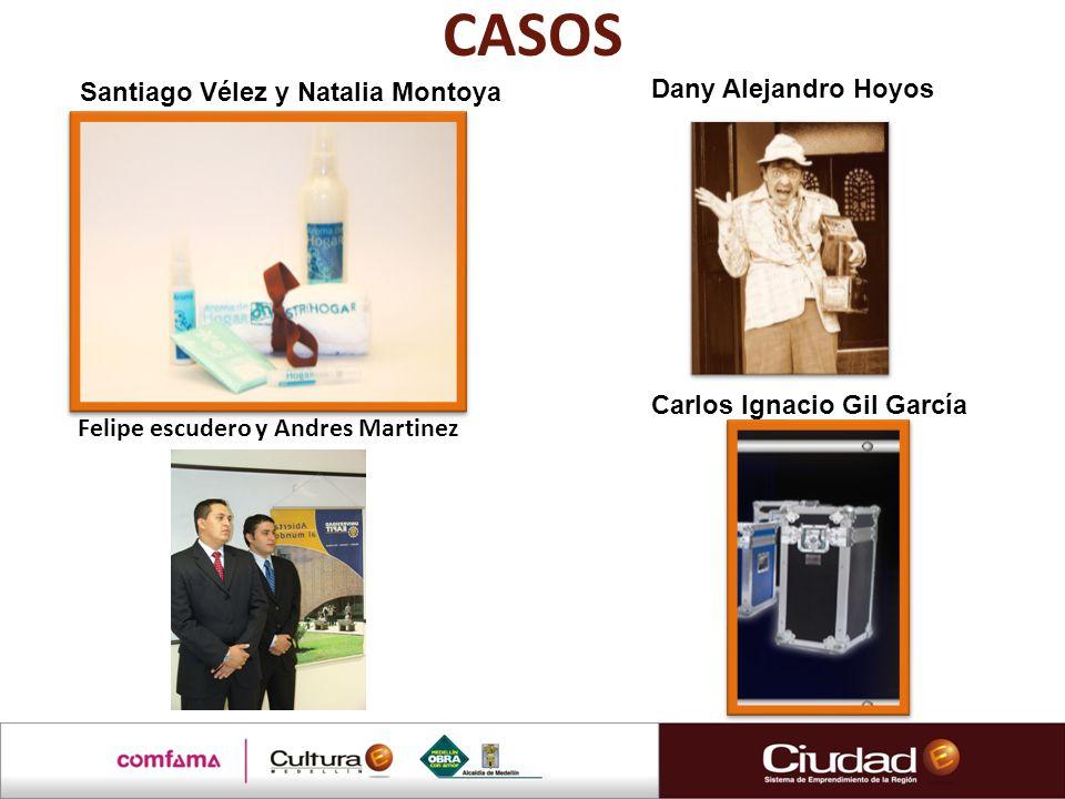 CASOS Carlos Ignacio Gil García Dany Alejandro Hoyos Santiago Vélez y Natalia Montoya Felipe escudero y Andres Martinez