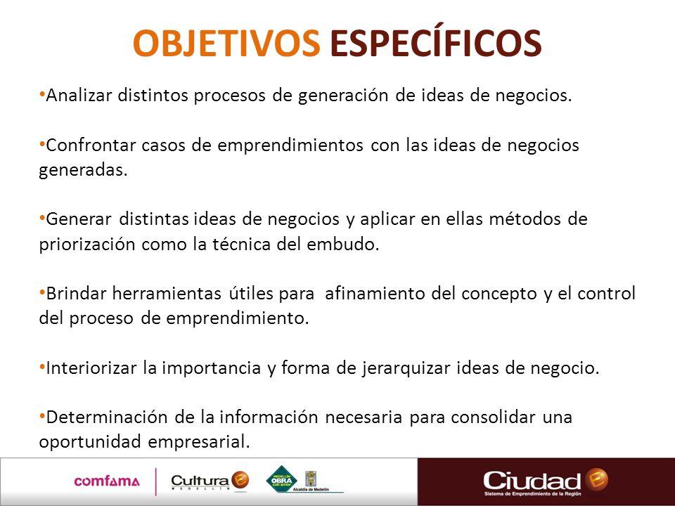 COMPETENCIAS CREATIVIDAD E INNOVACIÓN Presenta variadas ideas de negocios.