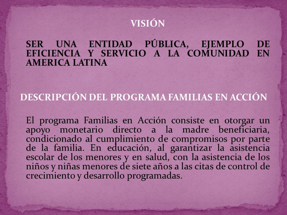 Objetivos del Programa Familias en Acción 1.