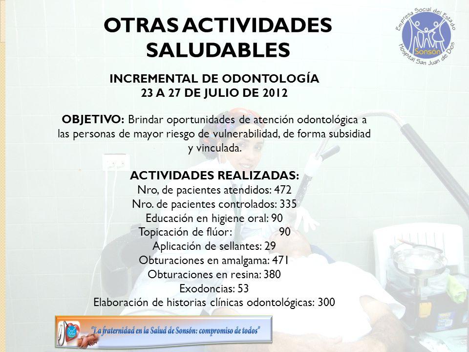 OBJETIVO: Brindar oportunidades de atención odontológica a las personas de mayor riesgo de vulnerabilidad, de forma subsidiad y vinculada.