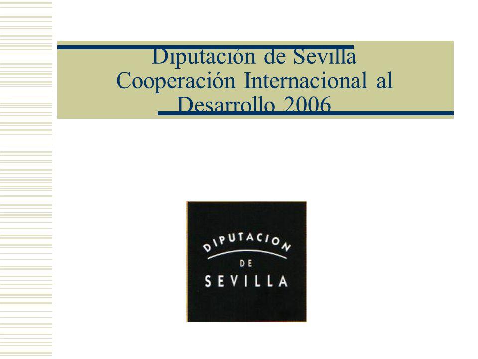 Diputación de Sevilla Cooperación Internacional al Desarrollo 2006