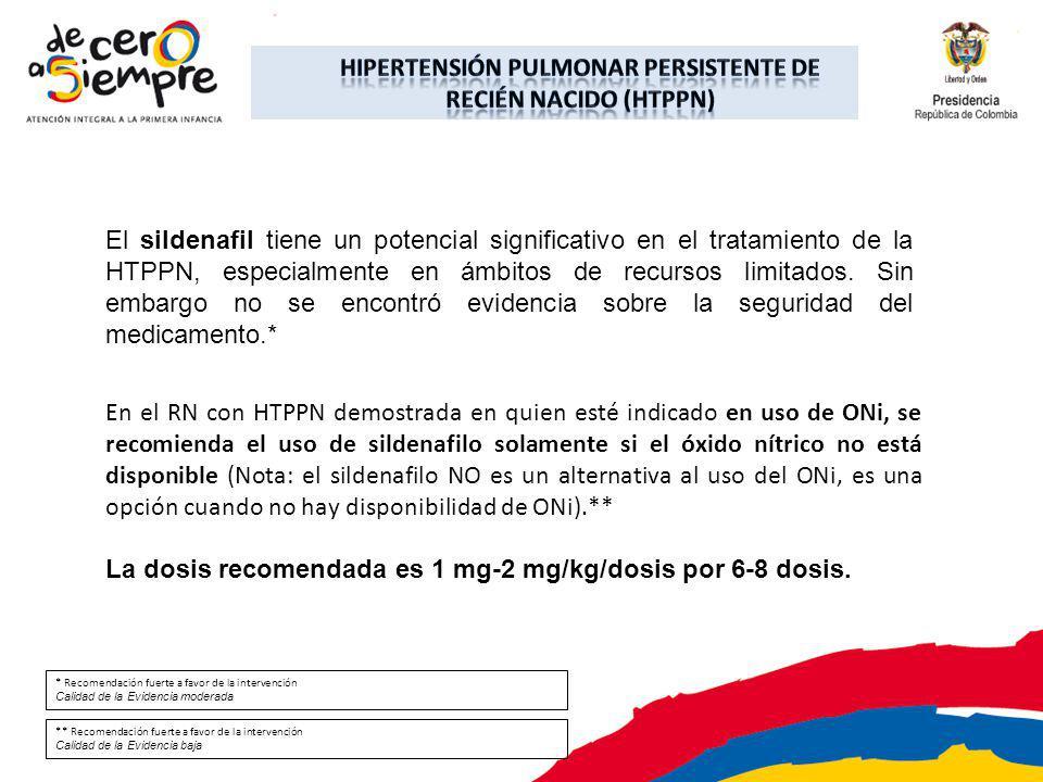 El sildenafil tiene un potencial significativo en el tratamiento de la HTPPN, especialmente en ámbitos de recursos limitados. Sin embargo no se encont