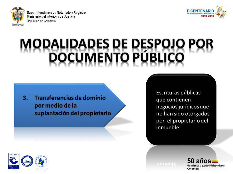 Superintendencia de Notariado y Registro Ministerio del Interior y de Justicia República de Colombia
