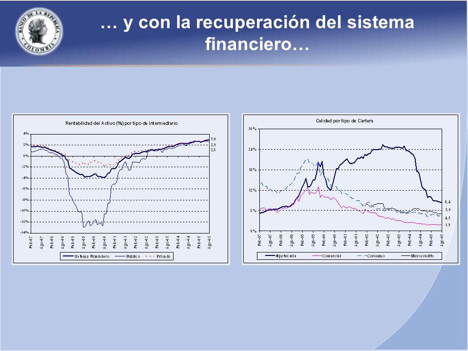 … y con la recuperación del sistema financiero…