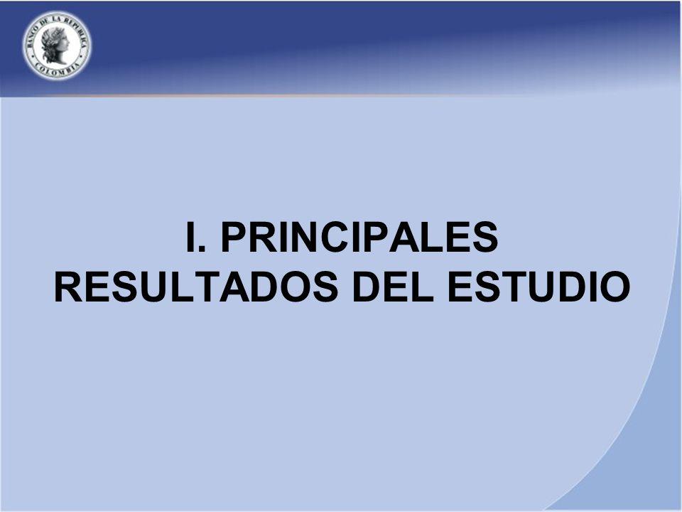 I. PRINCIPALES RESULTADOS DEL ESTUDIO