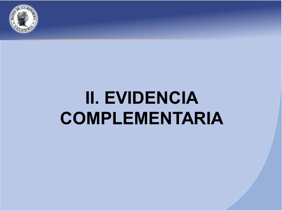 II. EVIDENCIA COMPLEMENTARIA