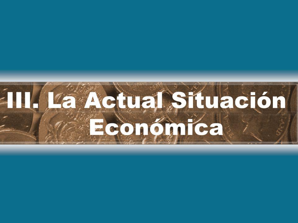 III. La Actual Situación Económica