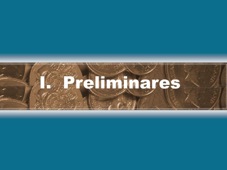 I. Preliminares