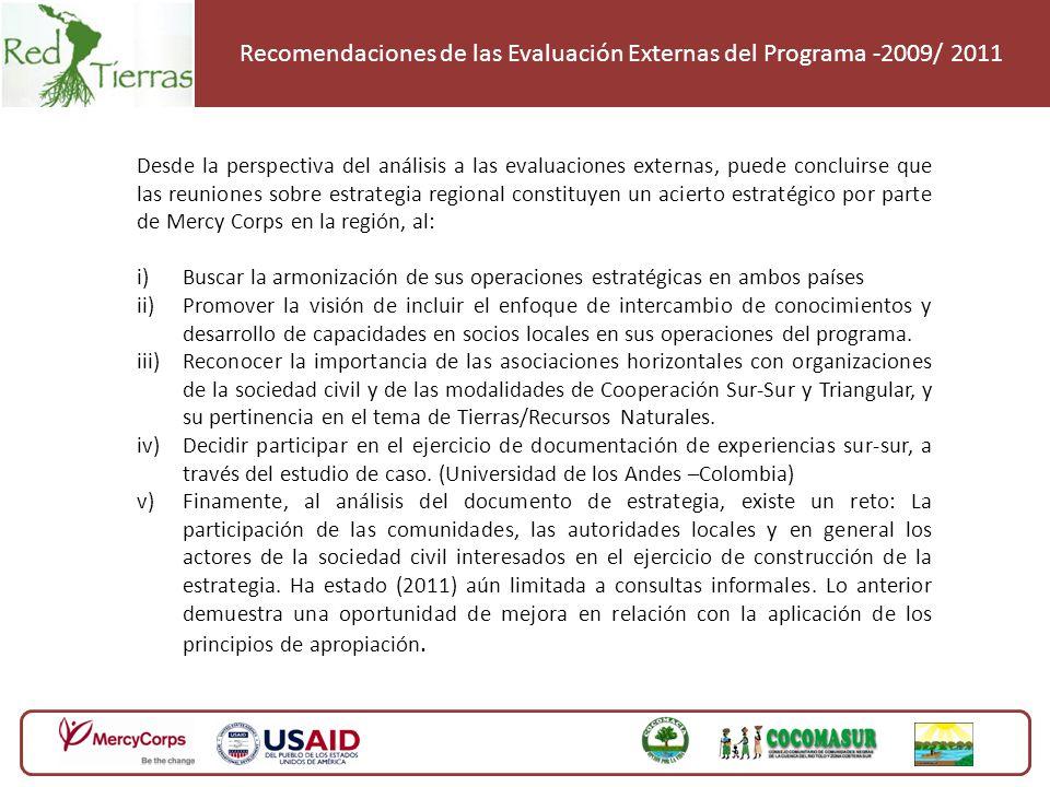 Estrategia de Intercambios con Enfoque de Cooperación Sur-Sur entre Guatemala y Colombia Mercy Corps, ha llevado a cabo un conjunto de doce (12) intercambios regionales enfocados en la resolución pacífica de conflictos territoriales y por recursos naturales en Colombia y Guatemala, promovió la operativación de un enfoque diferencial y la coordinación con las respuestas institucionales publicas y privadas, aplicando un modelo de cooperación triangular que buscó adaptar y replicar metodologías exitosas de resolución de conflictos territoriales de Guatemala a Colombia, haciendo uso de MARC y nuevas tecnologías.