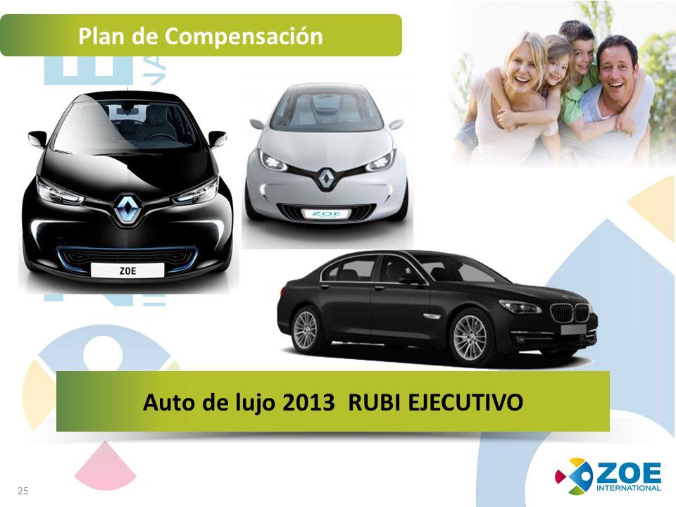 25 Plan de Compensación Auto de lujo 2013 RUBI EJECUTIVO
