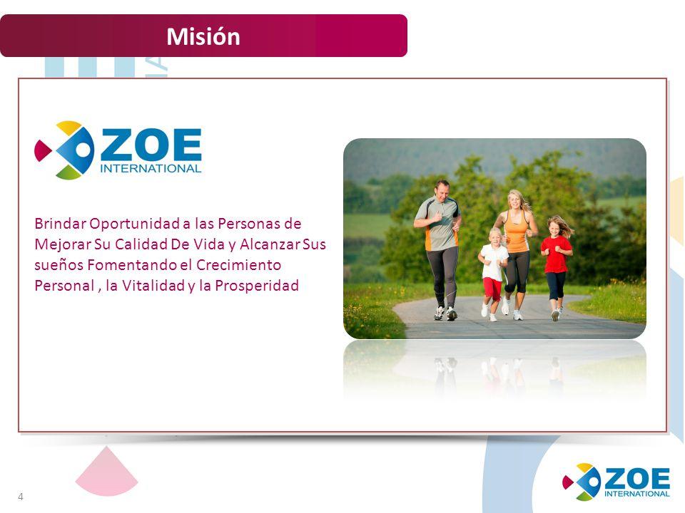 Visión 5 Somos la mejor alternativa Empresarial para el aumento de la productividad y el bienestar de miles de familias Alrededor del mundo