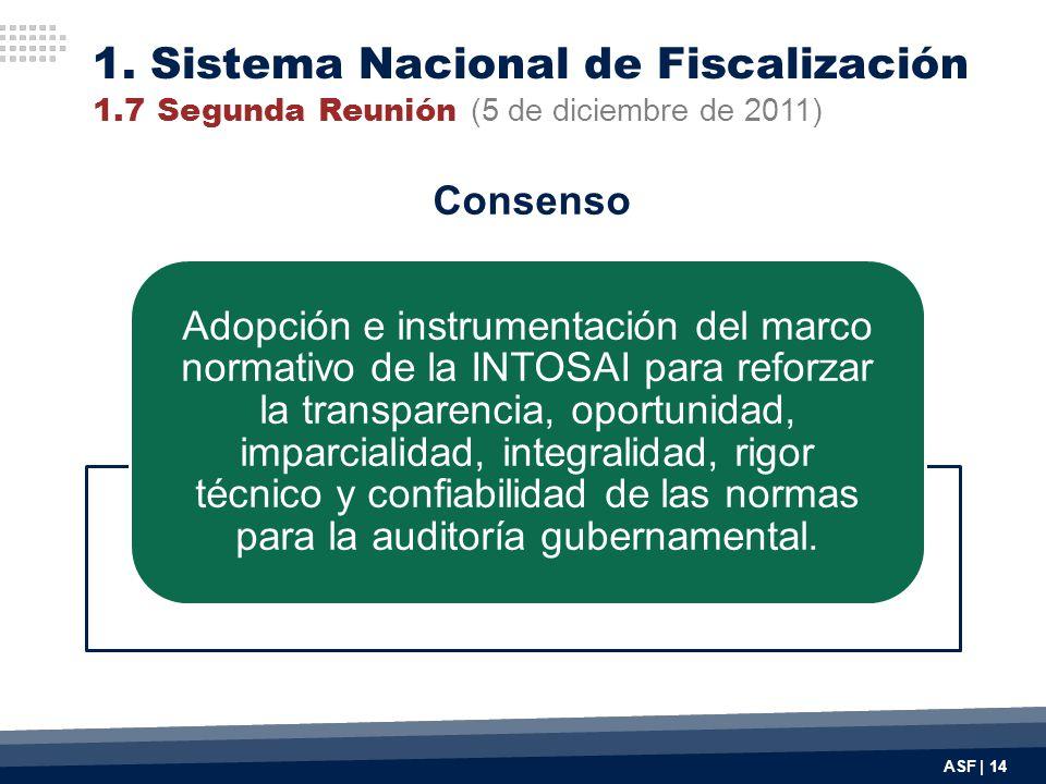 ASF | 14 Adopción e instrumentación del marco normativo de la INTOSAI para reforzar la transparencia, oportunidad, imparcialidad, integralidad, rigor