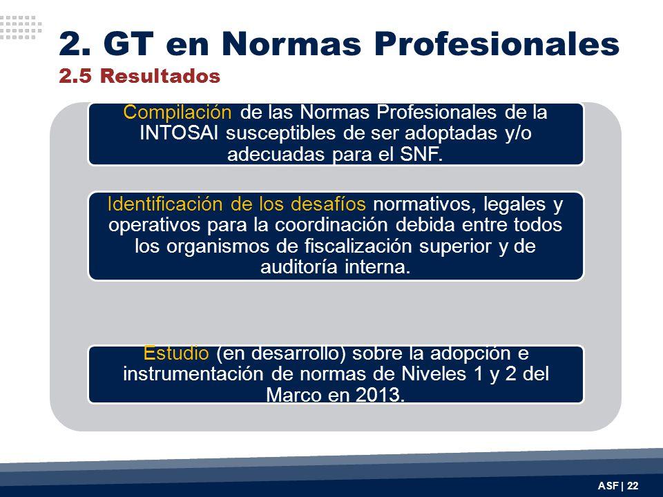 ASF | 22 Compilación de las Normas Profesionales de la INTOSAI susceptibles de ser adoptadas y/o adecuadas para el SNF. Identificación de los desafíos