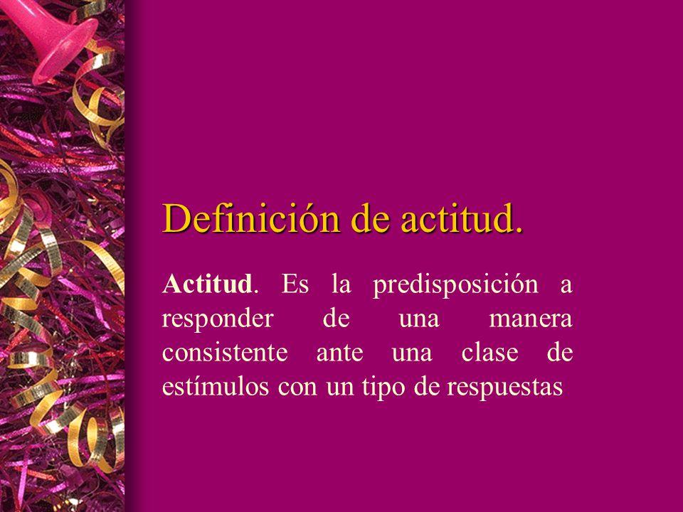 Definición de actitud.Actitud.