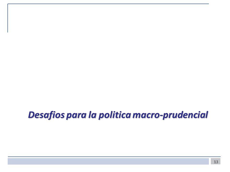 Desafios para la politica macro-prudencial 13
