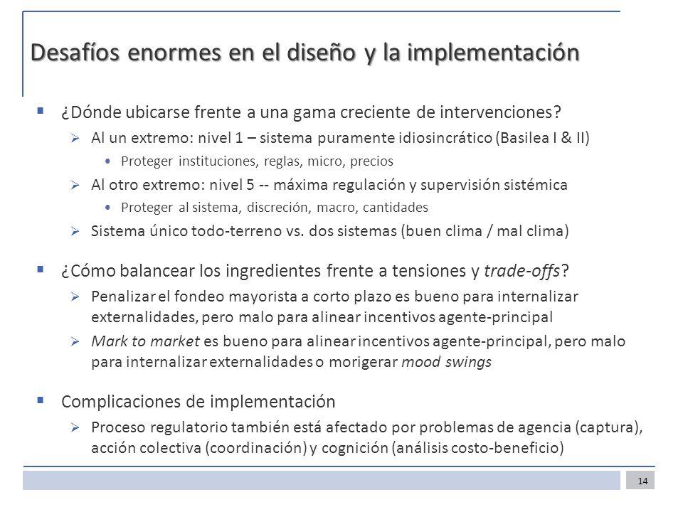 Desafíos enormes en el diseño y la implementación ¿Dónde ubicarse frente a una gama creciente de intervenciones? Al un extremo: nivel 1 – sistema pura