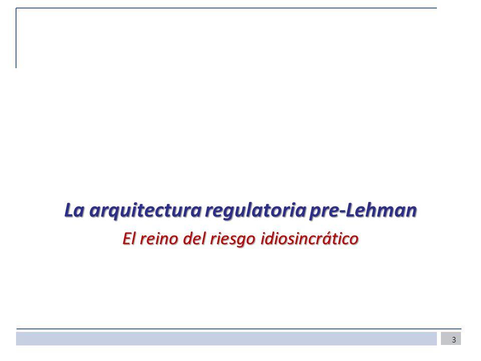 La arquitectura regulatoria pre-Lehman El reino del riesgo idiosincrático 3