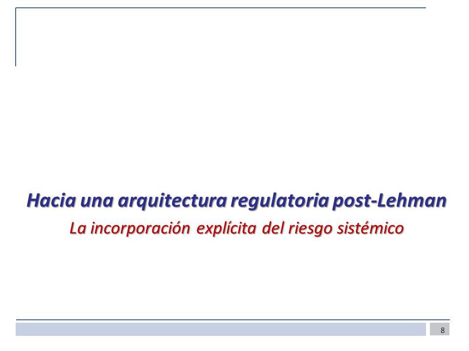 Hacia una arquitectura regulatoria post-Lehman La incorporación explícita del riesgo sistémico 8