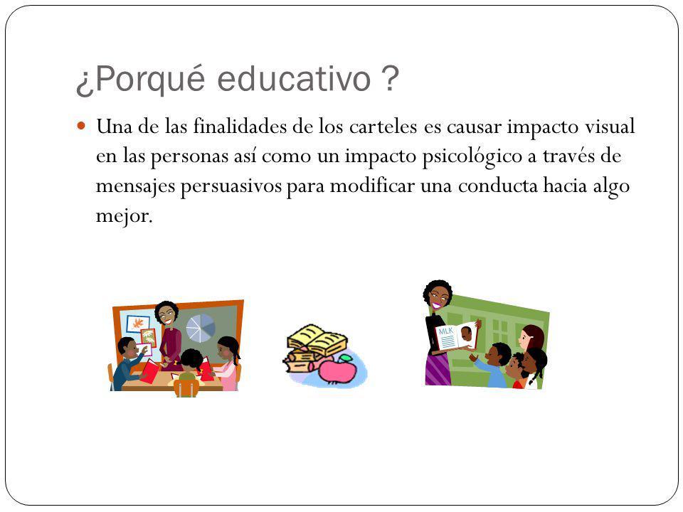 ¿cartel educativo.