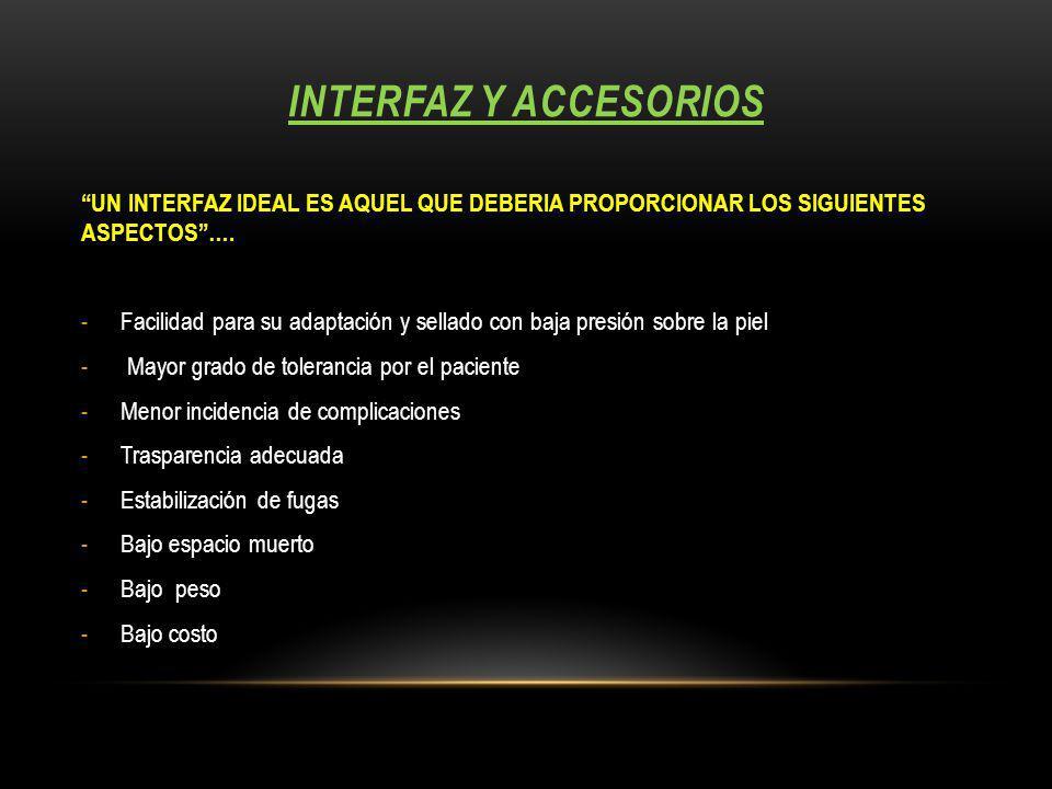 INTERFAZ Y ACCESORIOS UN INTERFAZ IDEAL ES AQUEL QUE DEBERIA PROPORCIONAR LOS SIGUIENTES ASPECTOS….