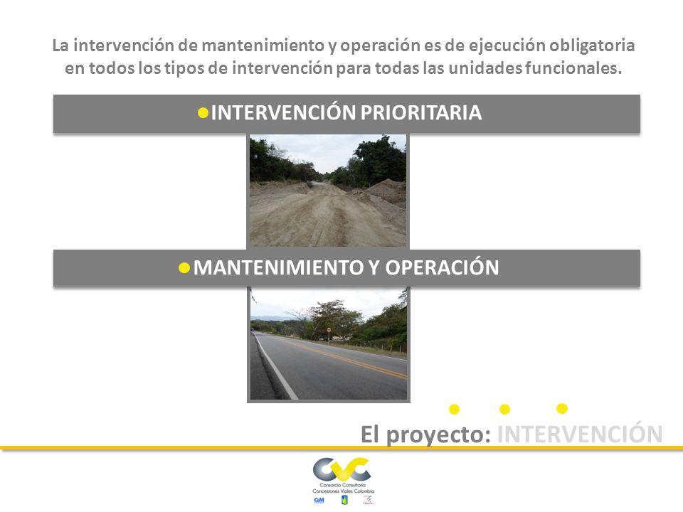 El concesionario deberá ejecutar un conjunto de obras tendientes a llevar la vía a sus condiciones iniciales de construcción, con el propósito que se cumplan las especificaciones técnicas para las que se diseñó.