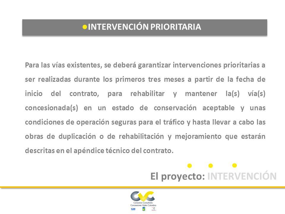 La intervención de mantenimiento y operación es de ejecución obligatoria en todos los tipos de intervención para todas las unidades funcionales.