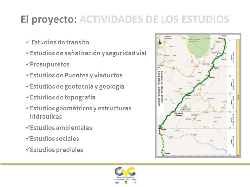 El proyecto es relativo al Corredor 3 denominado Neiva – Mocoa – Santana, en el ámbito de la estructuración del Grupo 1 Centro- Sur, se encuentra ubicado entre los departamentos del Huila, cauca y Putumayo.