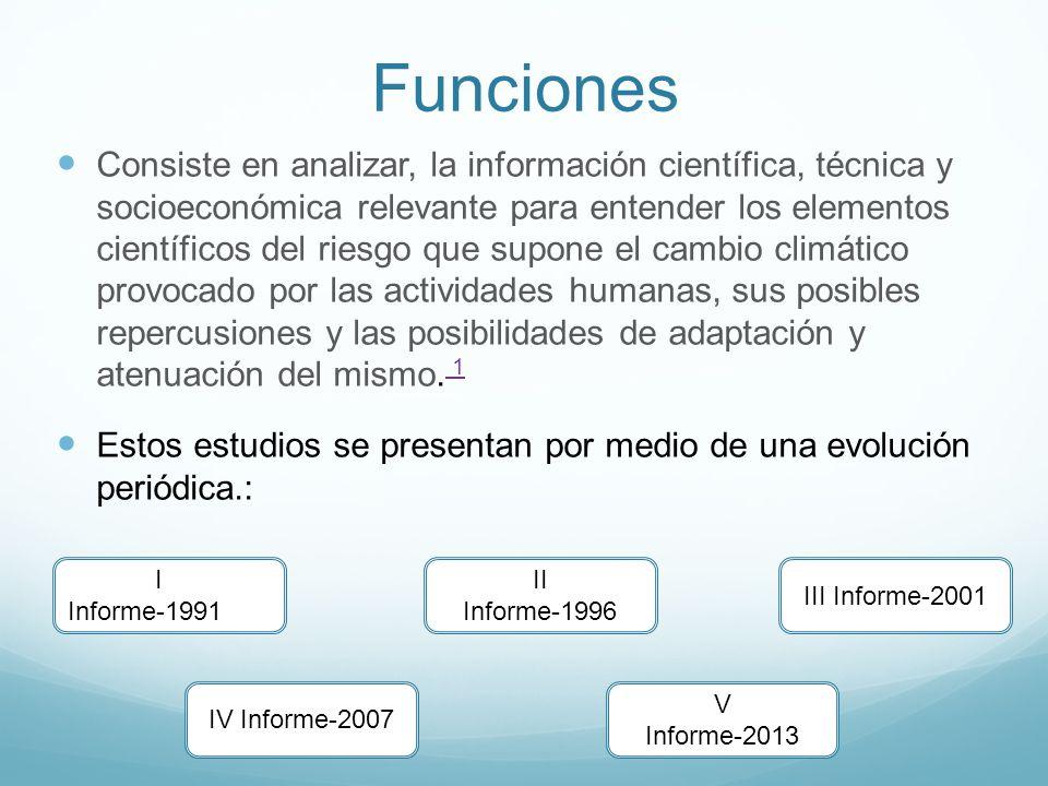 Funciones Consiste en analizar, la información científica, técnica y socioeconómica relevante para entender los elementos científicos del riesgo que s