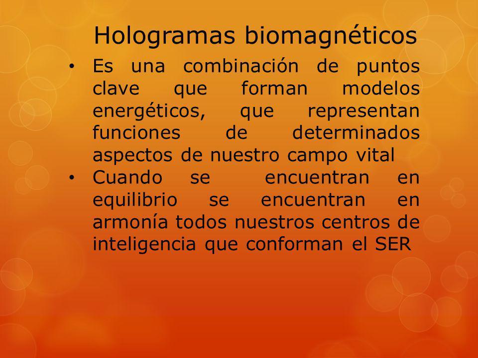 Hologramas biomagnéticos Pueden ser afectados por factores: Físicos Químicos Biológicos Magnéticos Impactos emocionales