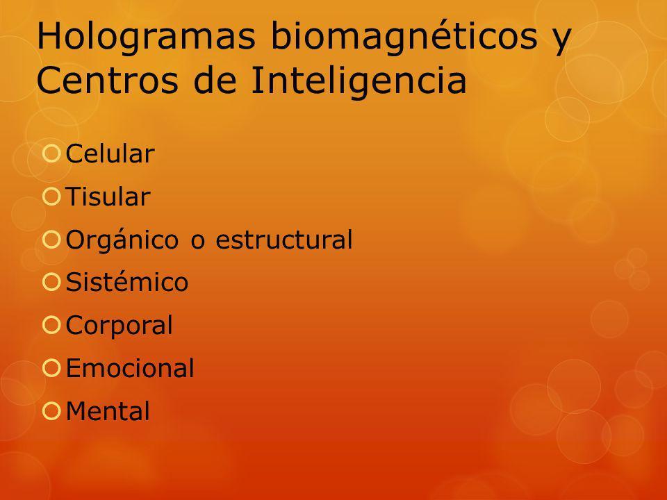 Celular Tisular Orgánico o estructural Sistémico Corporal Emocional Mental Hologramas biomagnéticos y Centros de Inteligencia