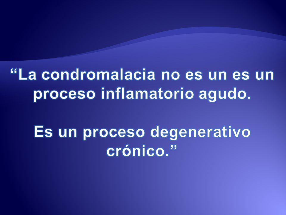 Condromalacia es una afección mencionada inicialmente en 1924, por Koening, para describir la degeneración del cartílago articular.